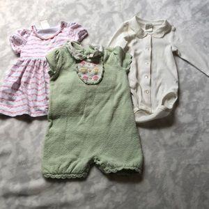 Bundle baby girl 0-4 month H&M Janie jack dress